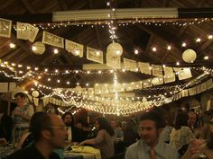 papel picado, lanterns, and lights