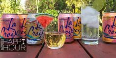 La Croix mixed drinks....need I say more!   http://gizmodo.com/9-cocktails-made-with-lacroix-a-sparkling-water-with-a-1718567132