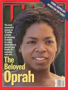 "Oprah in the movie ""Beloved"", based on a noval by Toni Morrison"
