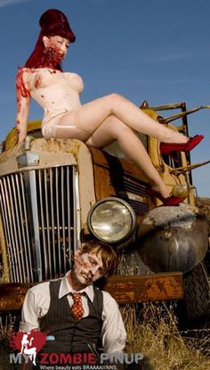 Zombie pin up-all I see is the worlds best engagement photo op