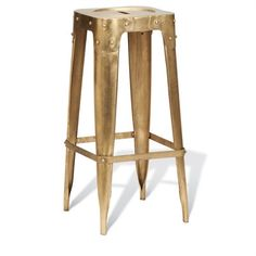 Vintage Brass Counter Stool A new twist on a classic stool Dimensions: 14 x 14 x 24 Sold as a pair.