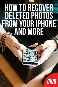 Here's how to recover deleted photos from iPhone (in case you've mistakenly erased them) and recover other data as well. Cell Phone Hacks, Smartphone Hacks, Iphone Hacks, Iphone 7, Recover Photos, Recover Deleted Photos, Computer Help, Computer Tips, Restore Deleted Photos