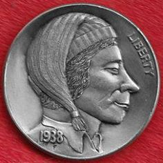 Derek Pegnall Hobo Nickel, Buffalo, Classic Style, Coins, Carving, Scrapbook, Rooms, Wood Carvings, Sculptures