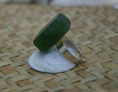 New Zealand Greenstone Ring (Jade) from ShellCentric by DaWanda.com
