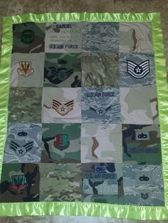 Memory military uniform quilts. by PattysHandmadeShop on Etsy, $80.00