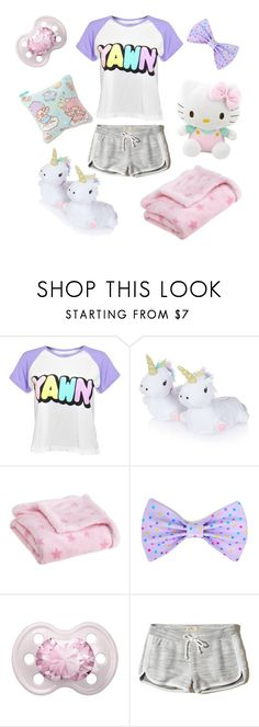 """"""" Sleepy Princess """" by belle-the-fairy ❤ liked on Polyvore featuring Disturbia, Topshop, Carter's, Hello Kitty and Hollister Co."""