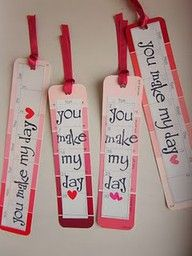 Valentine Bookmark from Paint swatches.
