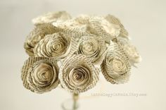 Roses Made from Books - Harry Potter, Game of Thrones, Hunger Games Bouquets and more - Bridesmaid Bouquet - Eco Home and Wedding Decor by AnthologyOnMain on Etsy Flower Girl Bouquet, Rose Wedding Bouquet, Bridesmaid Bouquet, My Flower, Roses Book, Book Flowers, Paper Flowers Roses, Mothers Day Roses, Hobbit Wedding