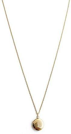 HONEYCAT Keepsake Locket Necklace in Gold, Rose Gold, or Silver   Minimalist, Delicate Jewelry