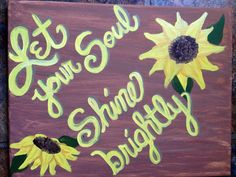 Sunflower canvas painting on Etsy, $22.00