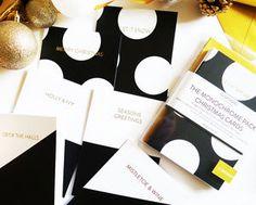 Set Of Luxury Monochrome Christmas Cards