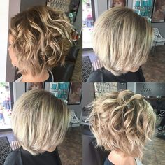 Shadow root/balayage Love how my hair turned out! - Shadow root/balayage Love how my hair turned out! Haircuts For Wavy Hair, Inverted Bob Hairstyles, Curly Bob Hairstyles, Short Hair Cuts, Curly Hair Styles, Hairstyles 2018, Styles For Thin Hair, Curly Inverted Bob, Best Bob Haircuts