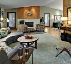 Wohnzimmergestaltung Ideen Im Retro Stil U2013 30 Beispiele Als Inspiration |  Innenarchitektur   60er | Pinterest | Wohnzimmergestaltung, Retro Und Farbig