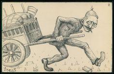 Dreyfus German Helmet Political Caricature -1905