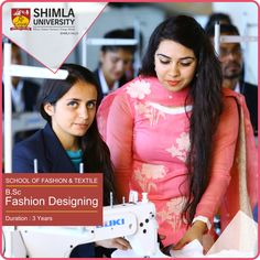 Fashion designer requires to be creative professional whose mind is always threading new ideas.  Due to its dynamic approach, Shimla University is preparing professionals in Fashion Designing as per the Industry demands. Renowned National and International Fashion brands are on our recruiters.  Explore more at http://bit.ly/2scfKCW or call at +91-9816222000, 18004198654 (Toll Free).