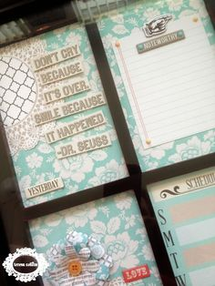 TERESA COLLINS DESIGN TEAM: Dry erase board featuring Memories by Yvonne Blair