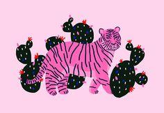 Jennifer Bouron,Tiger A5 Druckgrafik