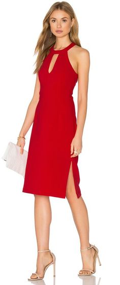 sophisticated red dress, great for Valentines day and under $75