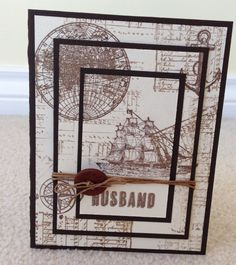 Husband open sea card