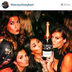 courtney kerr with her custom swarovski champagne