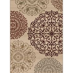 Orian Rugs Aston White 7 ft. 10 in. x 10 ft. 10 in. Area Rug-272758 at The Home Depot