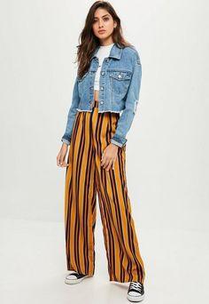 Mustard Yellow Wide Leg Pants http://shopstyle.it/l/nExh #style #beauty #hair #makeup #outfit #winter #winterfashion #winteroutfit #sweater #jumper #jacket #coat
