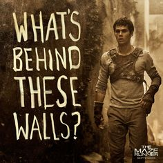 Dylan O'Brien as Thomas in The Maze Runner - release date 9/19/14