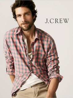 #fashion #mens #style Checked shirt,white tee and chinos