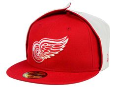 Detroit Red Wings New Era NHL Team Dog Ear 59FIFTY Cap cade82a6b