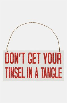 Don't get your tinsel in a tangle!