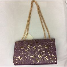 Gold and purple purse additional photos Gold and purple purse additional photos. Please purchase original listing. No Brand Bags Shoulder Bags