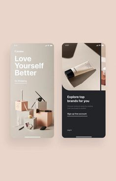 Cosmo Beauty App UI Kit is a pack of delicate UI design screen templates that will help you to design clear interfaces for beauty / cosmetic shopping app faster and easier. Compatible with Sketch App, Figma & Adobe XD Ios App Design, Web Design Mobile, Interface Design, Logo Design, User Interface, Design Design, Web Design Color, Flat Design, Kit Ui