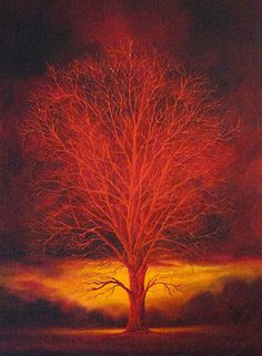 "Saatchi Online Artist mark duffin; Painting, ""red tree"" #art more at markduffin.net"