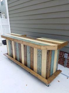 DIY Pallet Bar Ideas #palletdecoration