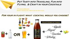 For your in flight cocktail, what would u choose? #TravelTuesday #BeerCocktail  #PremiumBeerMixer #CervezaMixers