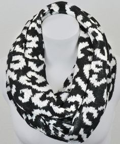 Take a look at this Leto Collection Black & White Leopard Infinity Scarf on zulily today!