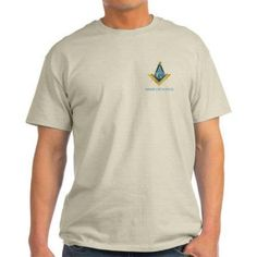 Cafepress Personalized Mason Square & Compass Light T-Shirt, Size: Large, Beige