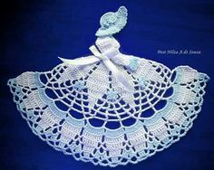 new hand crochet crinoline lady Crochet Dollies, Crochet Quilt, Crochet Girls, Crochet Stitches Patterns, Thread Crochet, Crochet Motif, Crochet Designs, Crochet Yarn, Easy Crochet