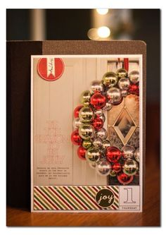 love love this dec daily //ormolu The door and wreath are great for page 1--it's like they're inviting you  in....