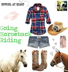 Horse Back Riding Country Outfit Needs jeans for riding. But cute for going to the fair or something