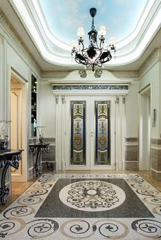Staircase Frames, Marble Staircase, Wooden Staircases, Curved Staircase, Modern House Facades, Modern House Design, Checkered Floors, Entrance Foyer, Entryway