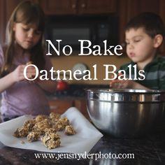 No Bake Oatmeall Balls, recipe by harford county family photographer jen snyder