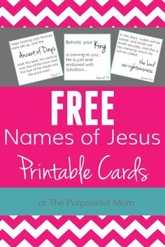 "Names of Jesus free printable cards for kids or as a family devotion idea! The first installment in the ""names of Jesus"" printables, with 12 names of Christ as demonstrated in the Bible. Free Printable Cards, Printable Pictures, Free Printables, Henna Designs, Names Of God, Names Of Jesus Christ, Jesus Pictures, Kids Church, Church Ideas"