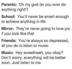 I love music... it helps with everything.