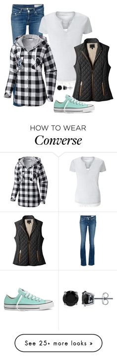 """""""Monday"""" by mountain-girl-lynn on Polyvore featuring rag & bone/JEAN, Columbia, LE3NO, Converse and BERRICLE"""