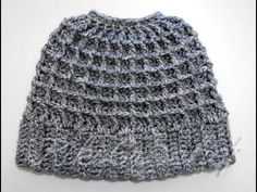 Crochet Messy Bun Beanie, My Crafts and DIY Projects