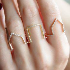 """Square Arch"" Diamond Ring - Plukka - Shop Fine Jewelry Online"