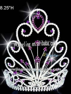peafowl beauty pageant crown  | colored peafowl rhinestone pageant crown for sale, View pageant crowns ...