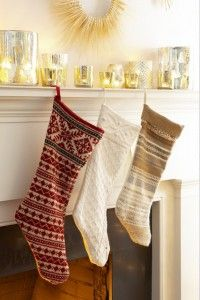 Christmas Stockings from an old sweater.