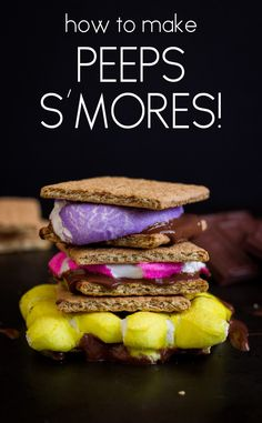 How to Make Peeps S'Mores | www.noshon.it | #easter #dessert